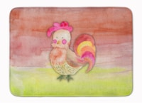 Rooster Watercolor Machine Washable Memory Foam Mat