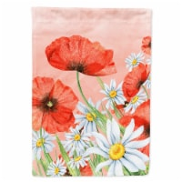 Carolines Treasures  BB7448CHF Poppies and Chamomiles Flag Canvas House Size