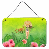 Summer Time Lady in Swimsuit Wall or Door Hanging Prints