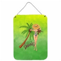 Hello Summer Lady in Swimsuit Wall or Door Hanging Prints
