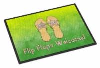 Carolines Treasures  BB7454JMAT Flip Flops Welcome Indoor or Outdoor Mat 24x36 - 24Hx36W