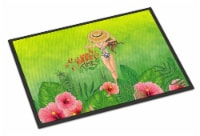 Summer Time Lady in Swimsuit Indoor or Outdoor Mat 18x27
