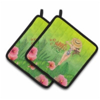 Carolines Treasures  BB7455PTHD Summer Time Lady in Swimsuit Pair of Pot Holders