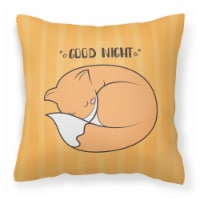 Nursery Good Night Fox Fabric Decorative Pillow