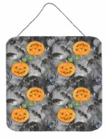 Watecolor Halloween Jack-O-Lantern Bats Wall or Door Hanging Prints - 6HX6W