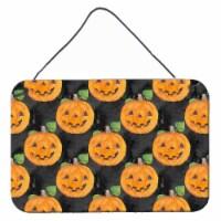 Watecolor Halloween Jack-O-Lantern Wall or Door Hanging Prints - 8HX12W