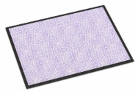 Gemoetric Circles on Purple Watercolor Indoor or Outdoor Mat 18x27