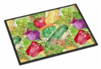 Watercolor Vegetables Farm to Table Indoor or Outdoor Mat 18x27 - 18Hx27W