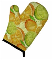 Carolines Treasures  BB7517OVMT Watercolor Limes and Oranges Citrus Oven Mitt - Large
