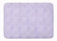 Gemoetric Circles on Purple Watercolor Machine Washable Memory Foam Mat