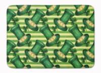 Watercolor St Patrick's Day Leprechan Hat Machine Washable Memory Foam Mat