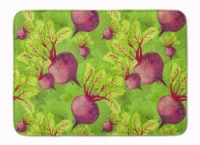 "Watercolor Raddishes Machine Washable Memory Foam Mat - 19 X 27"""