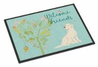 Welcome Friends Yellow Labrador Retriever Indoor or Outdoor Mat 24x36 - 24Hx36W