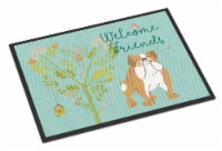 Welcome Friends English Bulldog Indoor or Outdoor Mat 24x36