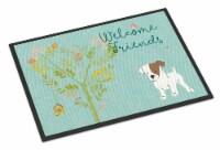 Welcome Friends Jack Russell Terrier Puppy Indoor or Outdoor Mat 24x36