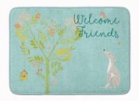Welcome Friends Italian Greyhound Machine Washable Memory Foam Mat