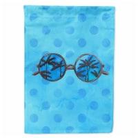 Carolines Treasures  BB8176CHF Sunglasses Blue Polkadot Flag Canvas House Size