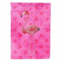 Carolines Treasures  BB8189CHF Flamingo Pink Polkadot Flag Canvas House Size