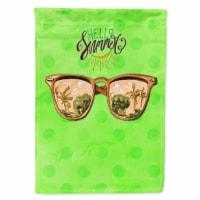 Beach Sunglasses Green Polkadot Flag Canvas House Size