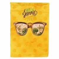 Beach Sunglasses Yellow Polkadot Flag Canvas House Size - House Size
