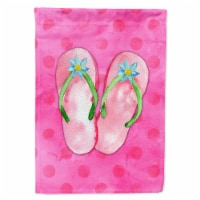 Pink Flip Flops Pink Polkadot Flag Canvas House Size