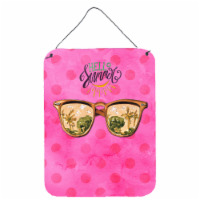 Beach Sunglasses Pink Polkadot Wall or Door Hanging Prints - 16HX12W