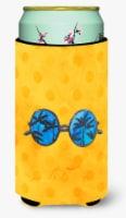 Sunglasses Yellow Polkadot Tall Boy Beverage Insulator Hugger - Tall Boy