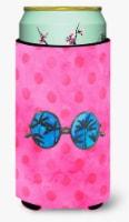 Sunglasses Pink Polkadot Tall Boy Beverage Insulator Hugger - Tall Boy