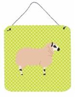 Kerry Hill Sheep Green Wall or Door Hanging Prints - 6HX6W
