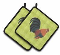 Carolines Treasures  BB7662PTHD Dutch Bantam Chicken Green Pair of Pot Holders - Standard