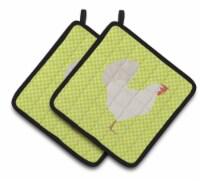 Carolines Treasures  BB7666PTHD Leghorn Chicken Green Pair of Pot Holders