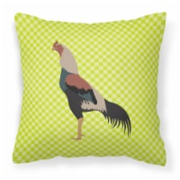 Carolines Treasures  BB7664PW1414 Kulang Chicken Green Fabric Decorative Pillow