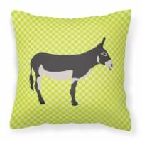 American Mammoth Jack Donkey Green Fabric Decorative Pillow