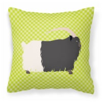 Welsh Black-Necked Goat Green Fabric Decorative Pillow