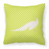 White Peacock Peafowl Green Fabric Decorative Pillow