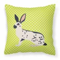 English Spot Rabbit Green Fabric Decorative Pillow - 14Hx14W