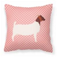 Carolines Treasures  BB7886PW1414 Boer Goat Pink Check Fabric Decorative Pillow