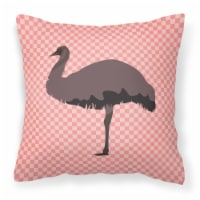 Carolines Treasures  BB7922PW1414 Emu Pink Check Fabric Decorative Pillow