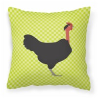 Naked Neck Chicken Green Fabric Decorative Pillow