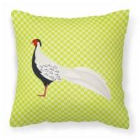 Carolines Treasures  BB7755PW1818 Silver Pheasant Green Fabric Decorative Pillow