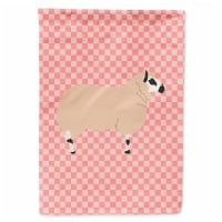 Kerry Hill Sheep Pink Check Flag Canvas House Size - House Size