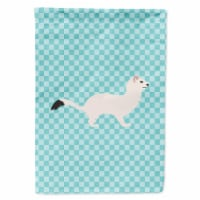 Stoat Short-tailed Weasel Blue Check Flag Canvas House Size