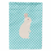 New Zealand White Rabbit Blue Check Flag Canvas House Size - House Size