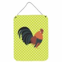 Dutch Bantam Chicken Green Wall or Door Hanging Prints - 16HX12W