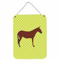 Hinny Horse Donkey Green Wall or Door Hanging Prints - 16HX12W