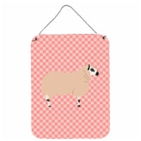 Kerry Hill Sheep Pink Check Wall or Door Hanging Prints - 16HX12W