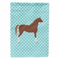 Carolines Treasures  BB8083GF Hannoverian Horse Blue Check Flag Garden Size