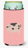 Gloucester Old Spot Pig Pink Check Tall Boy Beverage Insulator Hugger - Tall Boy