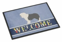 Old English Sheepdog Welcome Indoor or Outdoor Mat 18x27