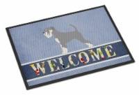 Carolines Treasures  BB8350MAT Schnauzer Welcome Indoor or Outdoor Mat 18x27